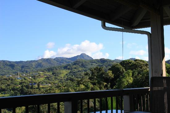 Lawai, : view from the lanai