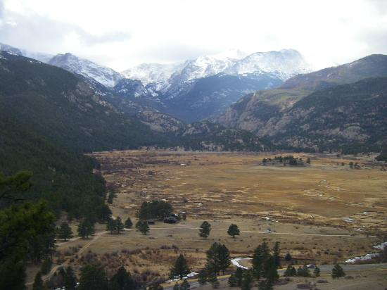 YMCA of the Rockies: View of adjacent Rocky Mountain National Park.