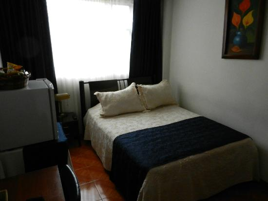 Hotel Casa Paulina: The bed had two sleeping pillows plus two large throw pillows.