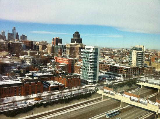 Hilton Philadelphia at Penn's Landing: snowfall view