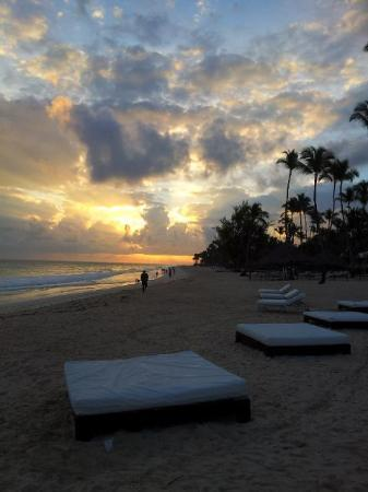 The Reserve at Paradisus Palma Real: The beach lounge beds