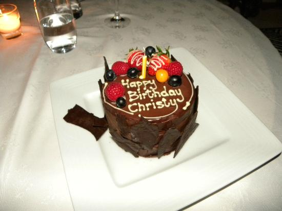 Ellerman House: b'day cake they made for me