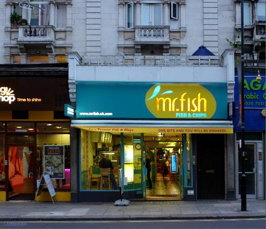 mr fish in london bayswater picture of mr fish london tripadvisor. Black Bedroom Furniture Sets. Home Design Ideas