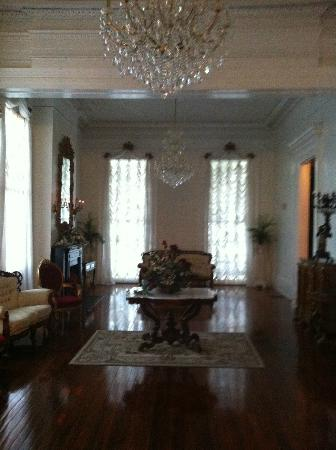 Magnolia Mansion: More seating spaces, chandeliers and gorgeous flooring.