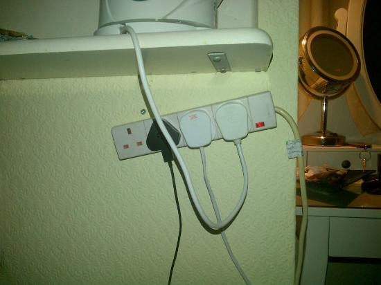 Beaufort Hotel - Chepstow: The plug socket system.