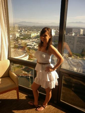 The Westin Bonaventure Hotel & Suites: Me posing by the window!