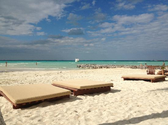 "Na Balam Beach Hotel: One of the best little beaches, with fabulous ""beds"""