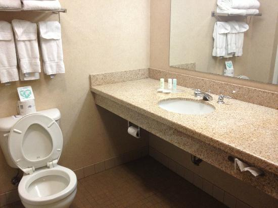 Comfort Suites Coralville: Standard amenities in bathroom