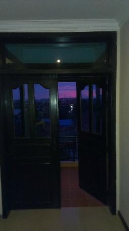 Claremont Angkor Boutique Hotel: sunset from the front balcony