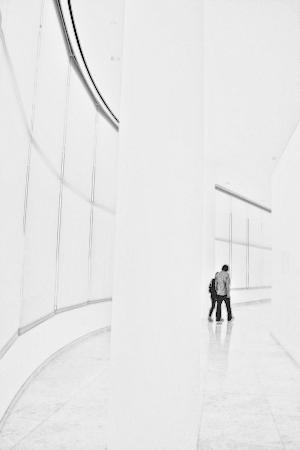 The Getty Center: Couple in white
