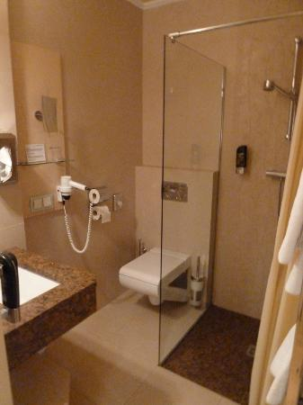 Hotel-Pension Baronesse: The single room bathroom