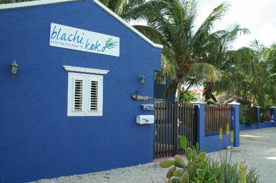 Blachi Koko Apartments Bonaire: The entrance