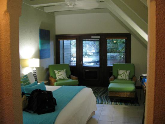 Peter Island Resort: Our Oceanview Rm, top floor.