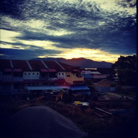 Best Stay Hotel Pangkor Island: sunrise view from my bedroom window.