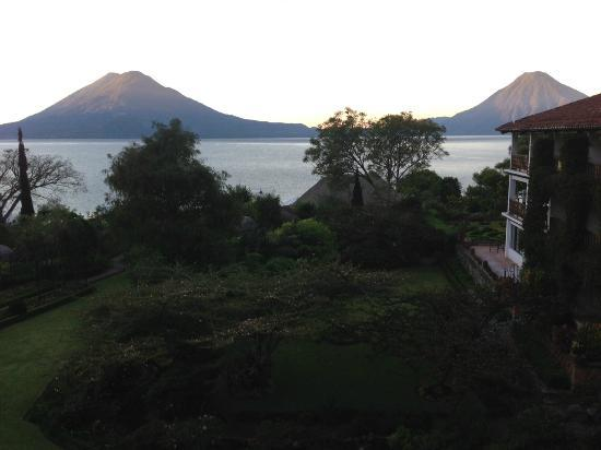 Hotel Atitlan: View from third floor room