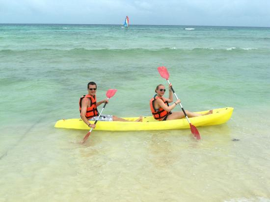 Grand Riviera Princess All Suites Resort & Spa: You can Kayak for free! Just give them your room #!