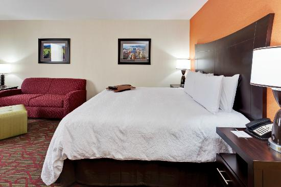 Seneca Falls, NY: Relax after a long day in one of our King guest rooms.
