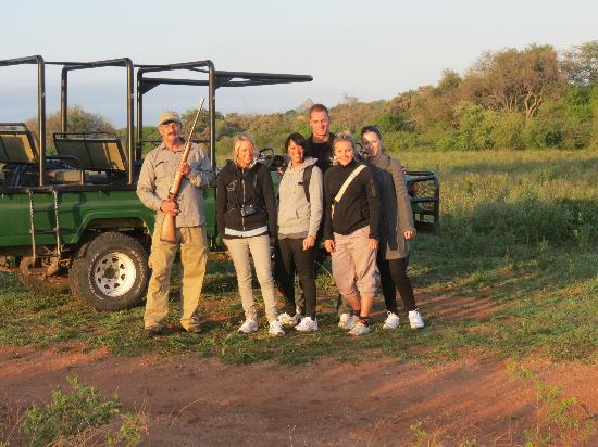 Tremisana Game Lodge: Our group at the start of the big game walk