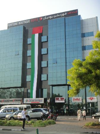 Hotel from side picture of fortune boutique hotel dubai for Saffron boutique hotel deira dubai