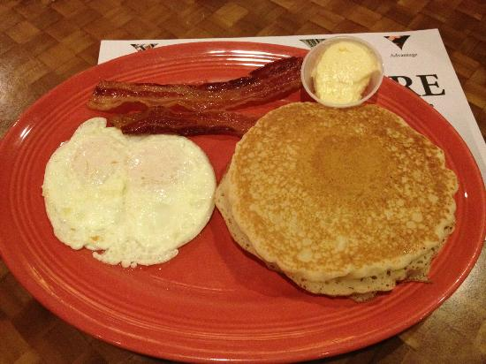 Silver Sevens Hotel & Casino: $2.99 breakfast. 2 eggs, 2 pancakes and 2 bacon. Yum!