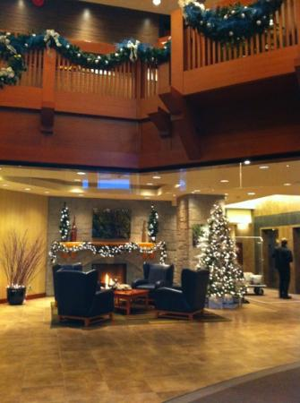 Crystal Lodge Hotel: lobby at Christmas time