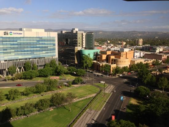 Hilton Adelaide: the view from floor 13