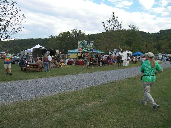 Berryville, Wirginia: Some vendors during Watermelon Parkfest 2012
