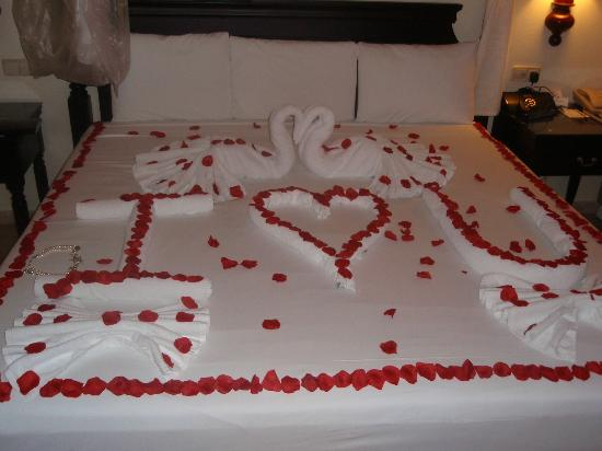 Lucea, Ямайка: Part 3 The night of our wedding the hotel did this. :)