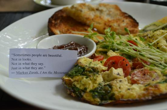 "Daintree, Australia: We loved breakfast with it's ""wise"" sayings every day!"