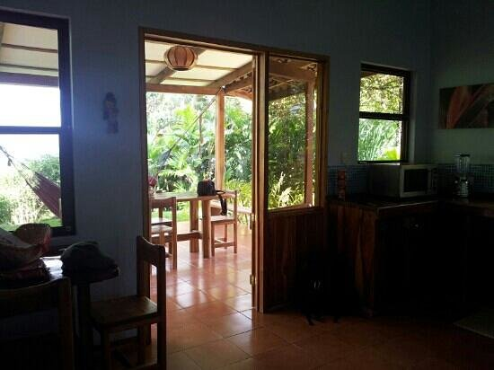 Agua Vista: View from kitchen of Casa Trogon