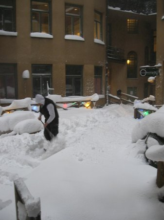 City Backpackers Hostel:                   Chasse neige manuel !!!!!!