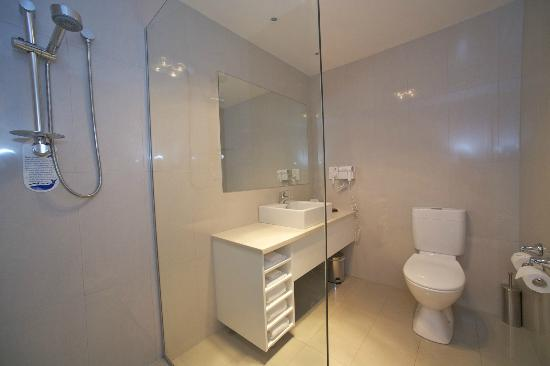 , : Newly renovated bathrooms in Standard Rooms