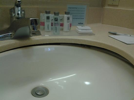 Hampton Inn &amp; Suites Lafayette: Broken sink
