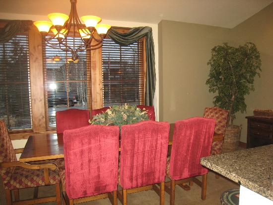 The Porches: Dining room table