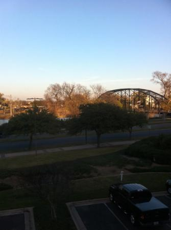 Courtyard Waco: bridge out of my window