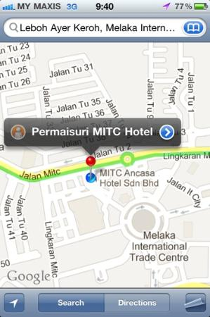 ‪‪MITC Ancasa Hotel Melaka‬: The location‬