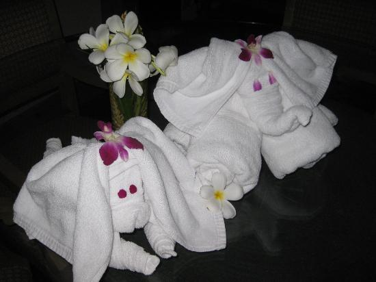   : Towel friends, compliments of Marriot room service