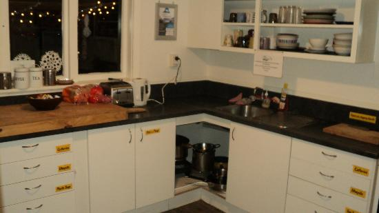 KIWI basecamp: The kitchen, which is basic and servicable