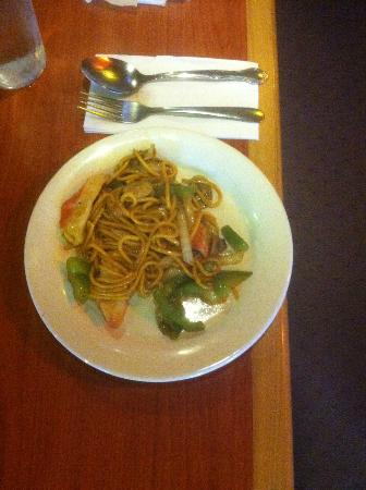 โทมัสตัน, จอร์เจีย: Hibachi Grill dish-noodles, teryaki sauce, my choices of meat and veggies