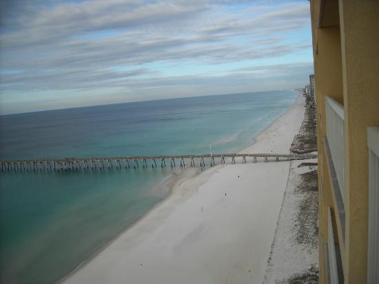 Fishing pier 1 block away picture of calypso resort for Panama city beach pier fishing report