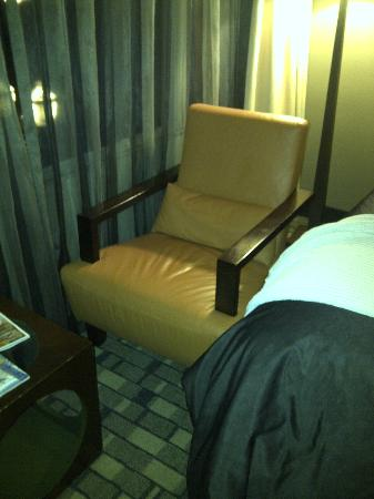 Hotel Fifty: Chair blocks your way in this tiny room