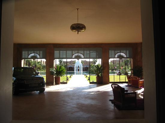Sahara Palace Marrakech: View from lounge to pool area