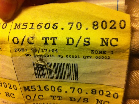 Warwick San Francisco Hotel: Dated Mattress Tag