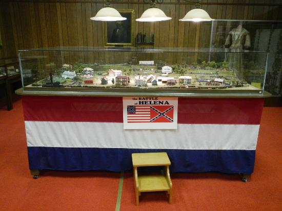 Helena, AR: Civil War battle diorama