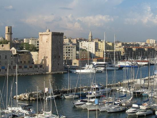 Sofitel Marseille Vieux-Port: View from the balcony.