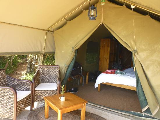 Amakhala Woodbury Tented Camp: Seating area outside the tent