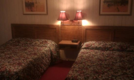 Chateau Motor Lodge: Two beds nice lights