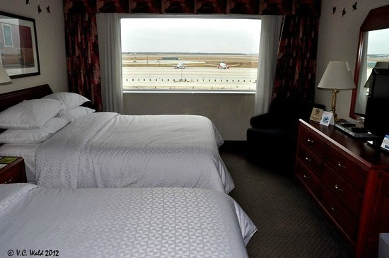 Four Points by Sheraton Winnipeg International Airport: The view from our window, how cool is that!