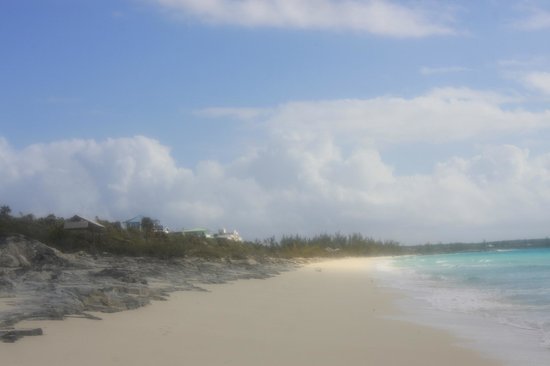 Pigeon Cay Beach Club: Toward the end of our walk, now looking back toward resort (south)