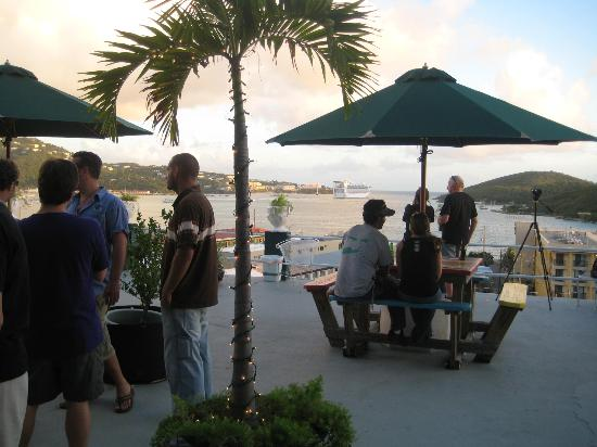 Miller Manor Guest House: Lido Deck with view of Charlotte Amalie Harbor